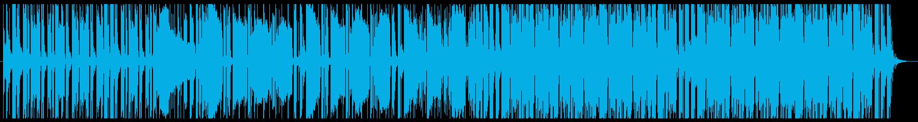 ワクワクした気持ちを感じるBGMの再生済みの波形