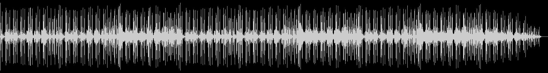 バンドセッション風インストトラックの未再生の波形