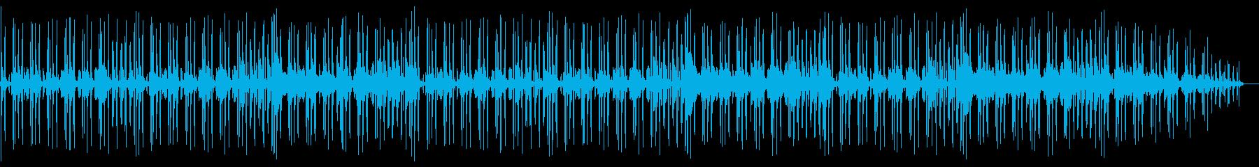 バンドセッション風インストトラックの再生済みの波形