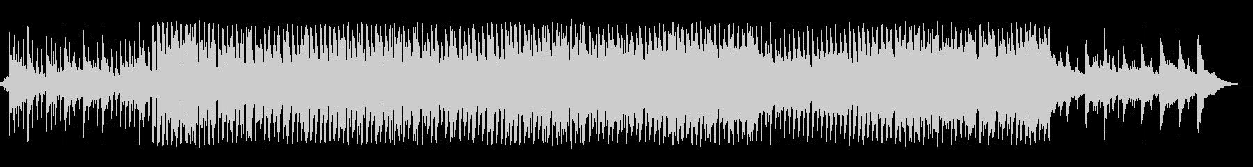 生アコギとピアノが優しいゆったりとした曲の未再生の波形