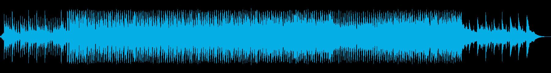 生アコギとピアノが優しいゆったりとした曲の再生済みの波形