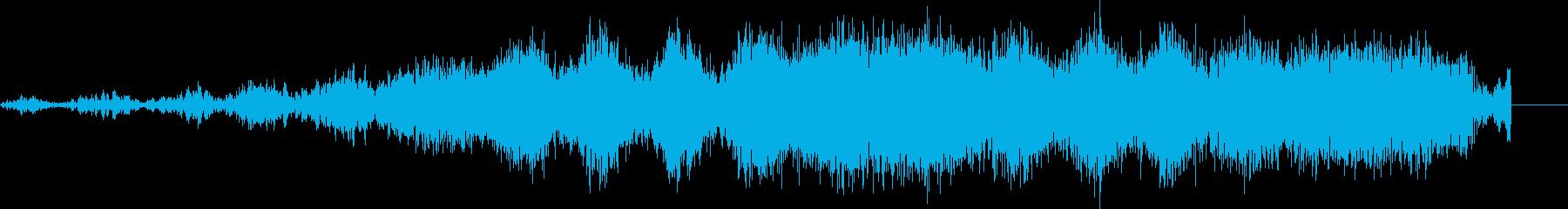 スピードアップで遅い強烈な歪んだランブルの再生済みの波形