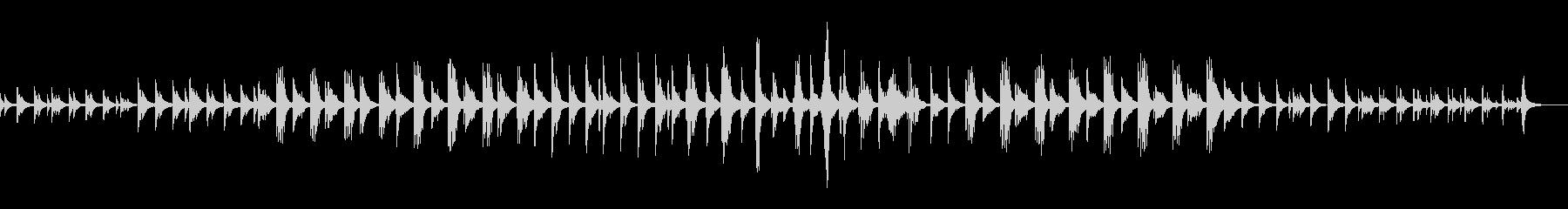 ピアノのアンビエント 雪 夜 やさしさの未再生の波形