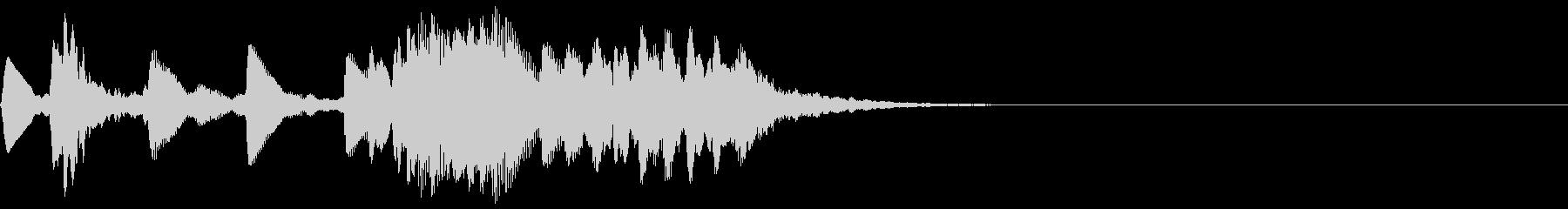 低い音のレベルアップ音【3】の未再生の波形