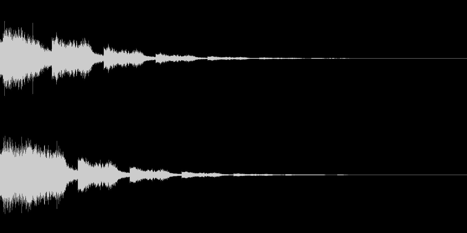 ワープ/移動/魔法/念力/波動/効果音の未再生の波形