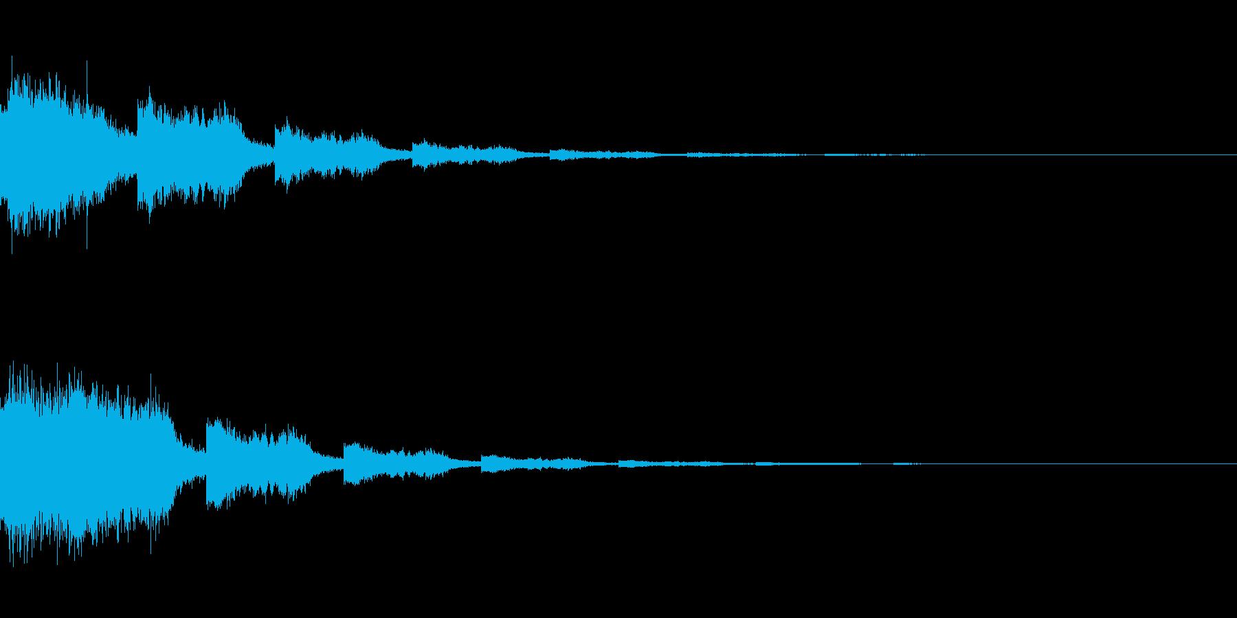ワープ/移動/魔法/念力/波動/効果音の再生済みの波形