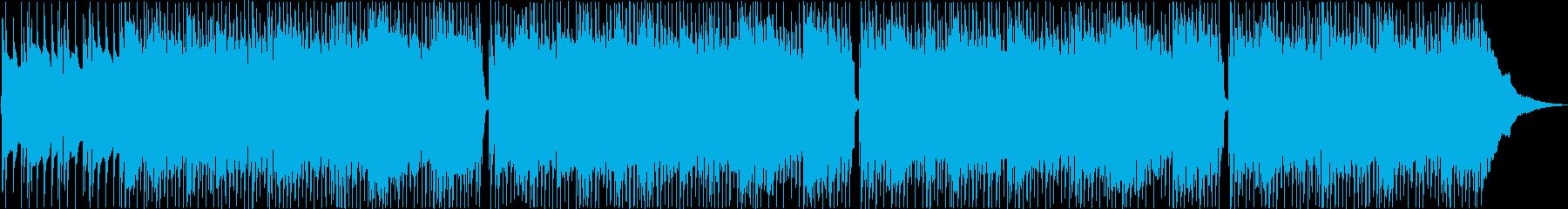 ポジティブで楽観的なポップロックの再生済みの波形