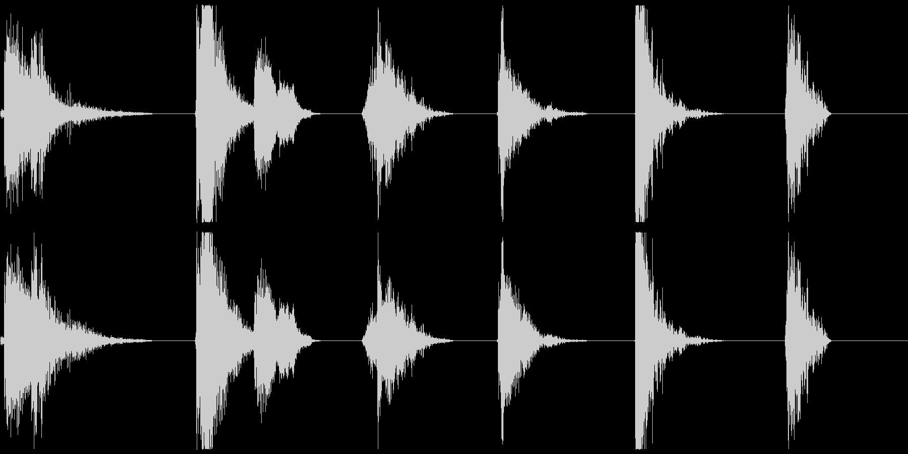 爆発的なバーストX6の未再生の波形