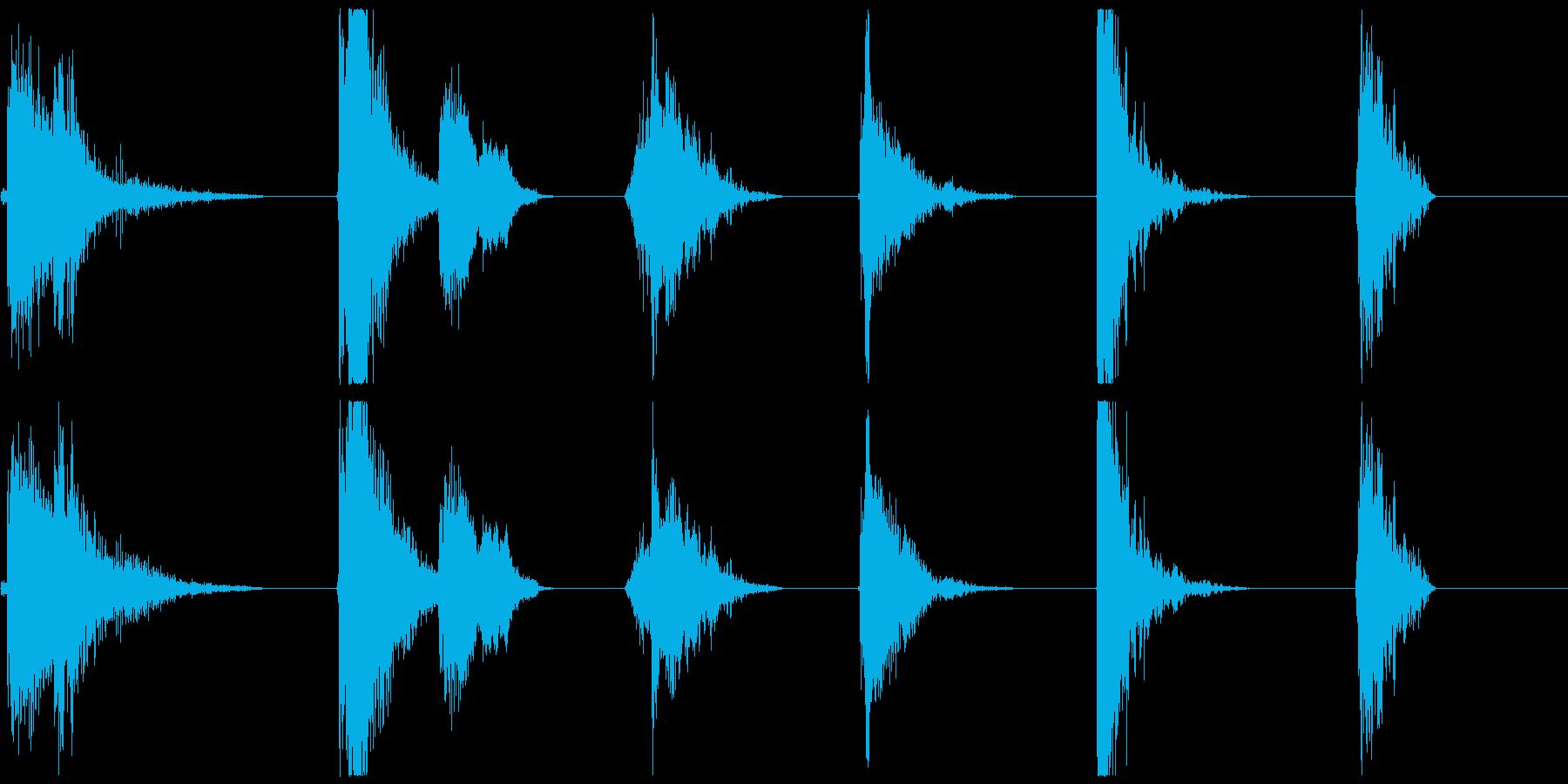 爆発的なバーストX6の再生済みの波形