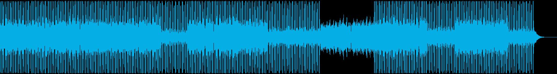 幻想的な雰囲気のミニマルテクノの再生済みの波形
