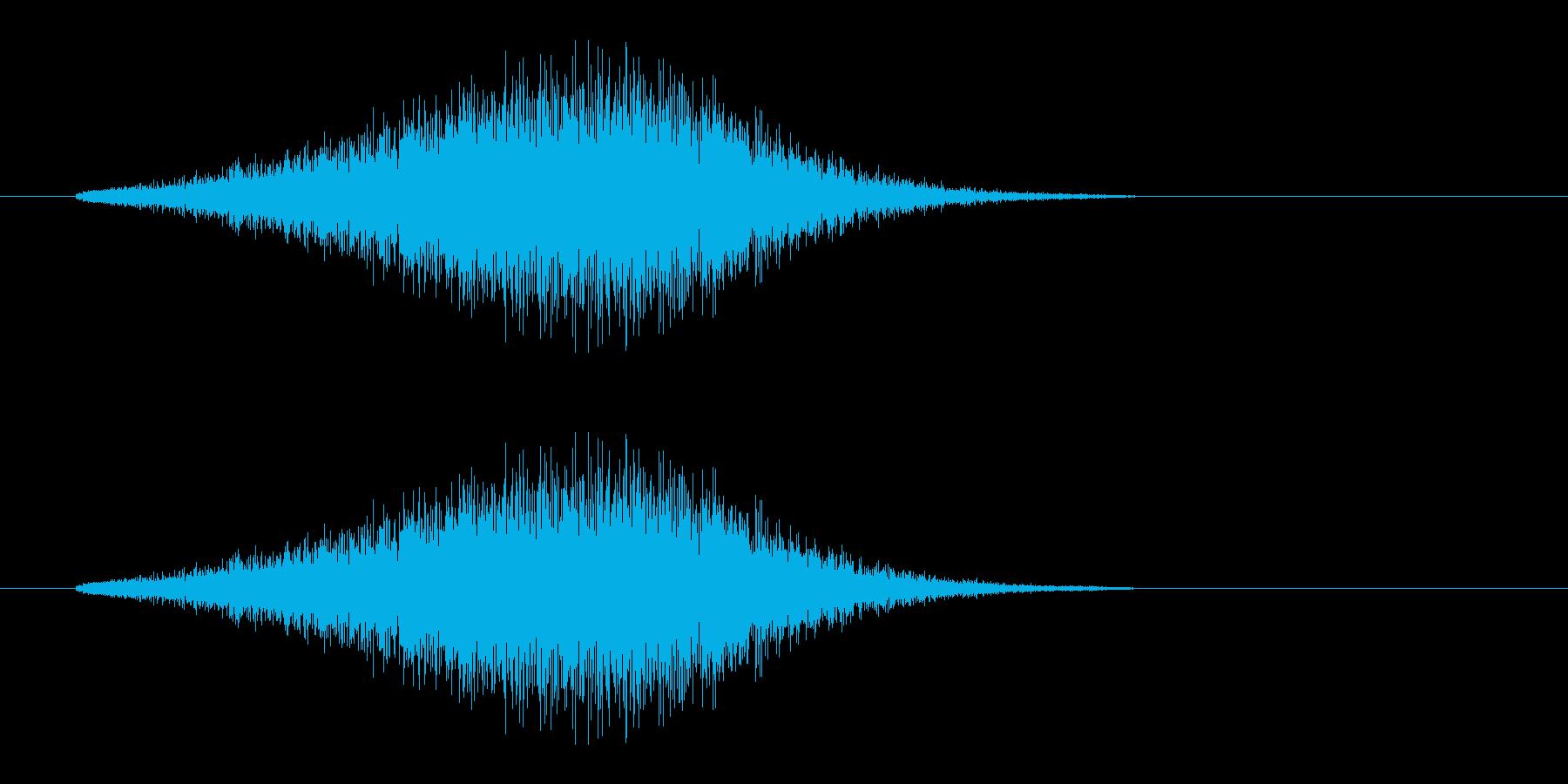 レーザー音-157-3の再生済みの波形