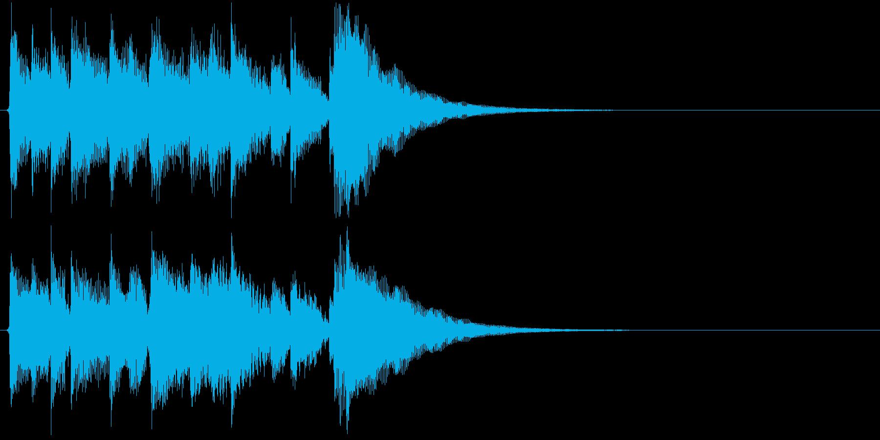 生演奏 アコギ キラキラ 良音 ジングルの再生済みの波形
