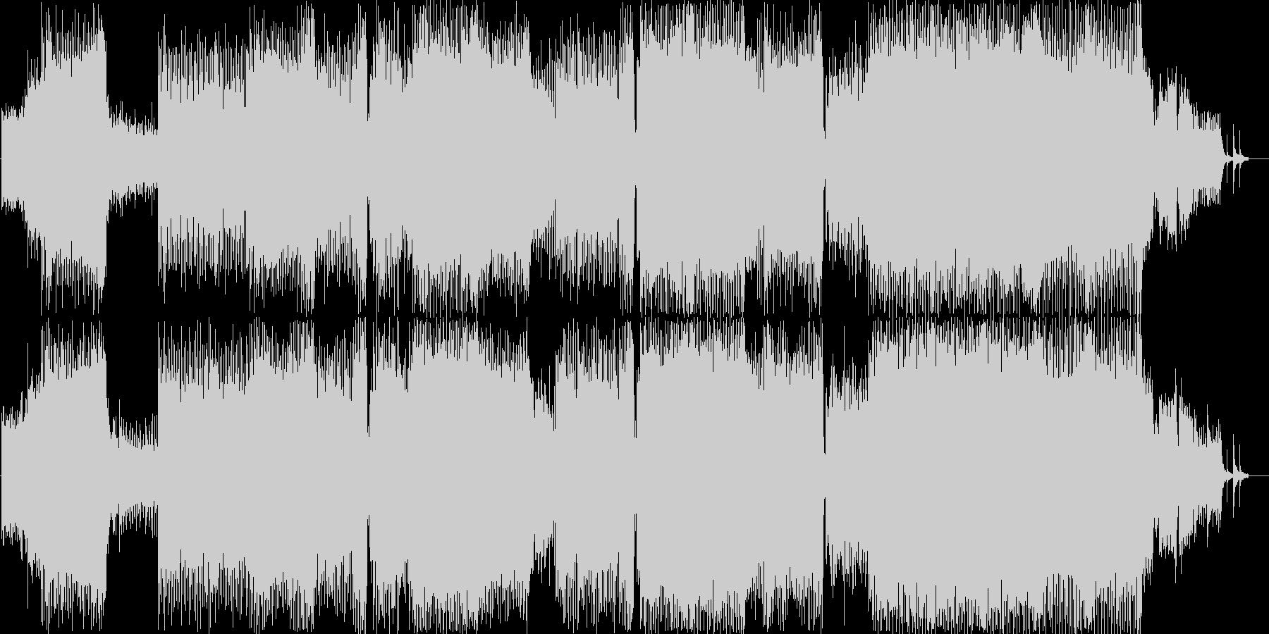おしゃれクールな洋楽的EDMサウンドの未再生の波形