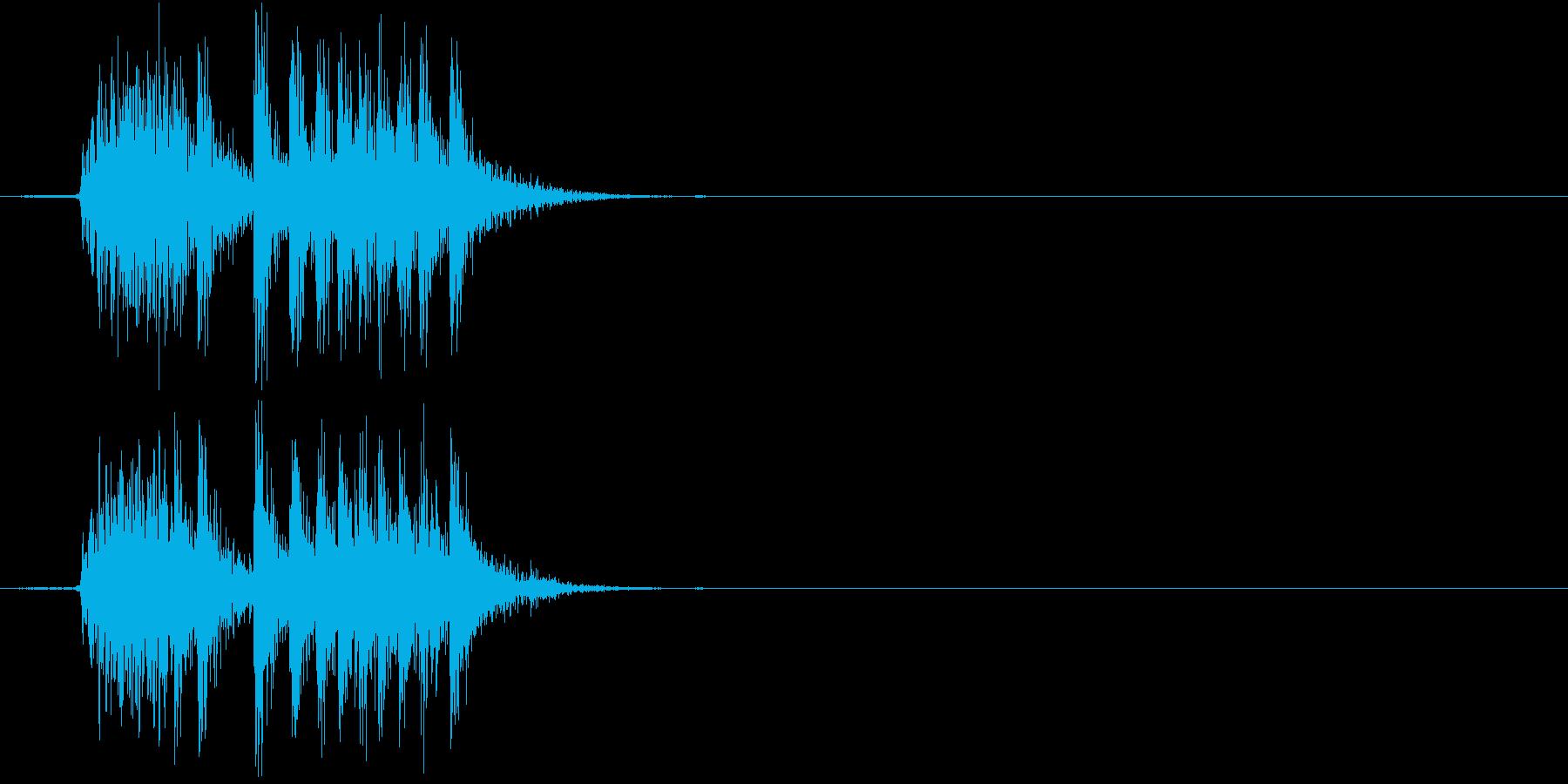 【生録音】 オフィスチェアのきしみ 2の再生済みの波形