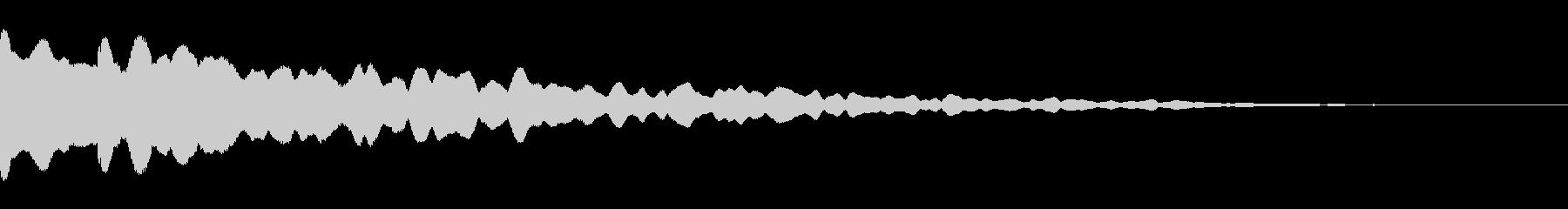 カーン(緊張感のあるベルの音)の未再生の波形
