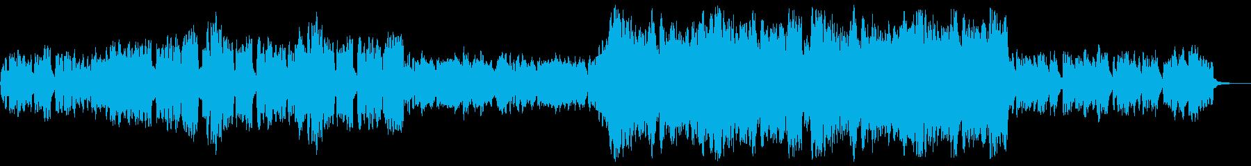 木管楽器と弦楽器のワルツの再生済みの波形