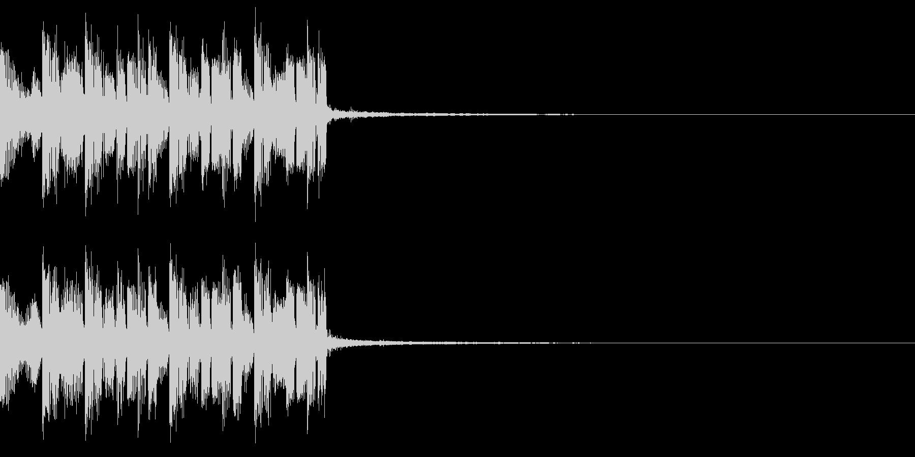 重低音のEDMジングルの未再生の波形