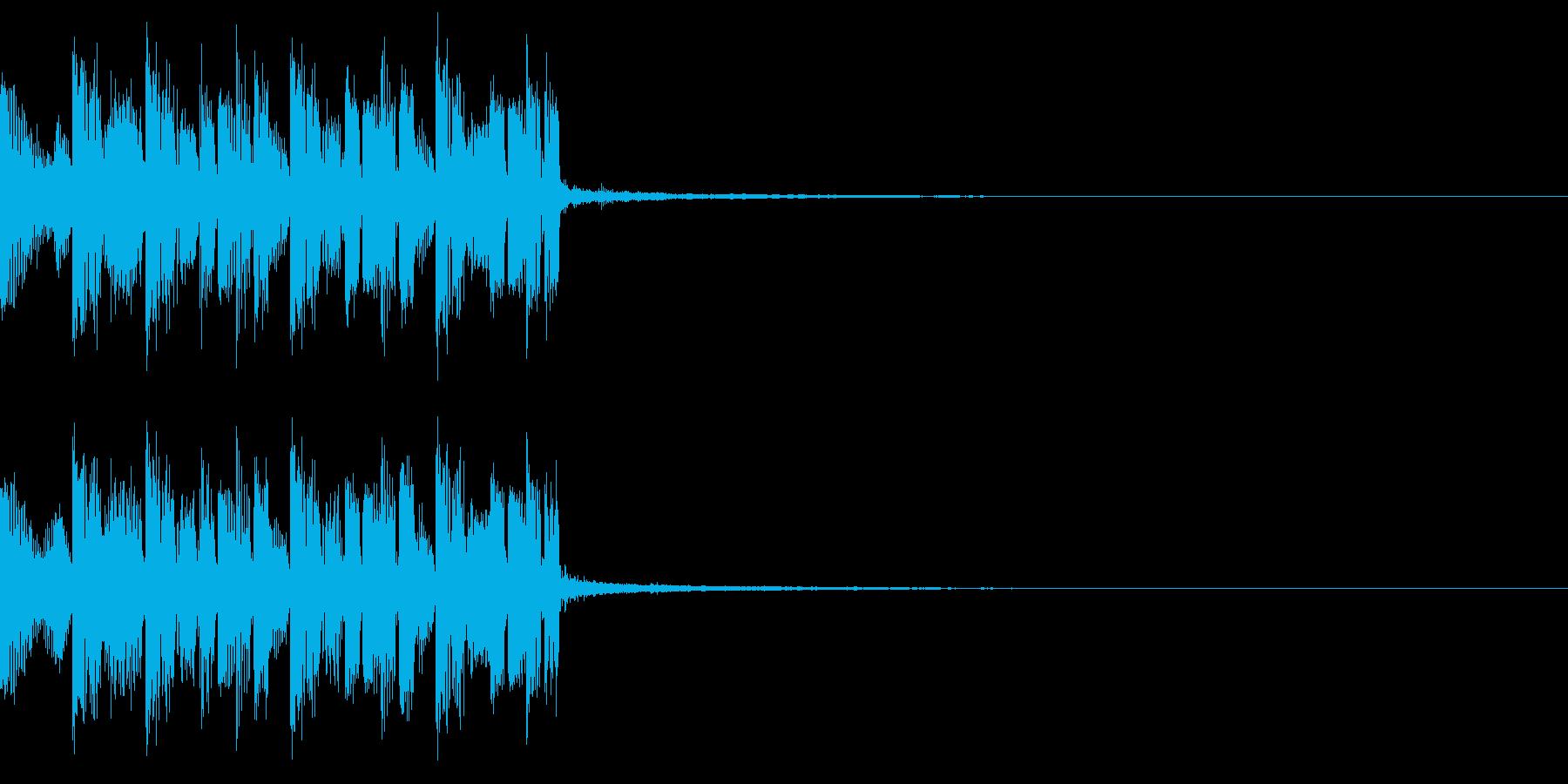 重低音のEDMジングルの再生済みの波形