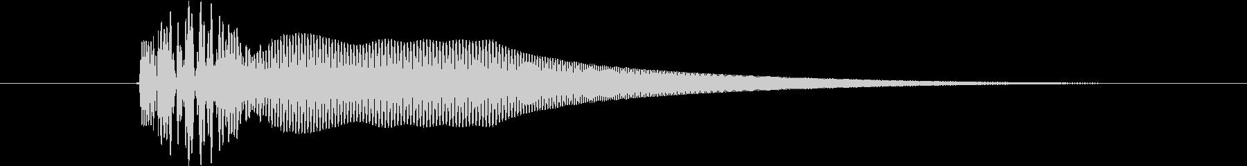 パーカッション ボーイング08の未再生の波形