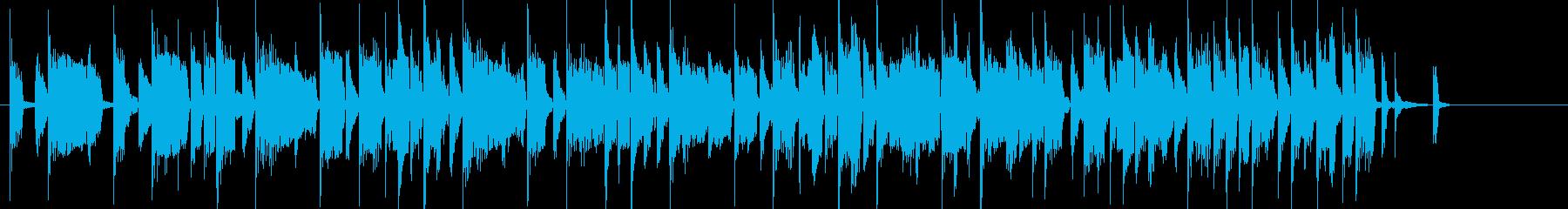 電子音が主役のポップなジングルの再生済みの波形
