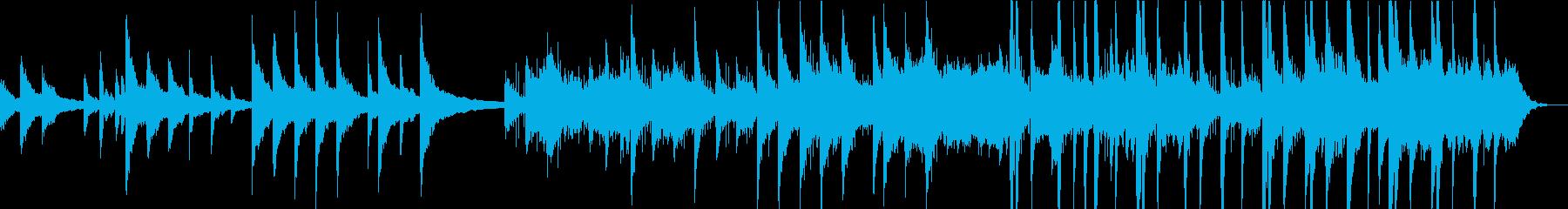 冷たい・悲しい雰囲気のピアノエレクトロの再生済みの波形