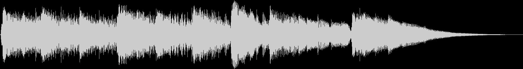 ギターとピアノによる15秒のジングル曲の未再生の波形