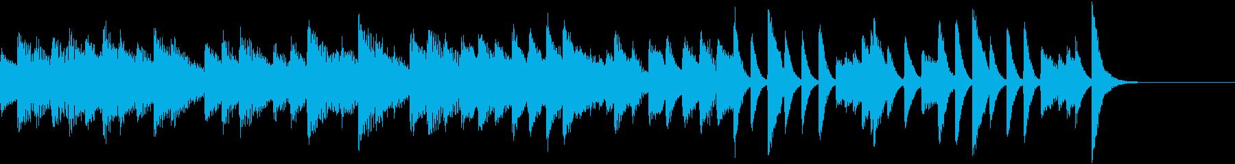 クラシカル&ロマンチックなピアノジングルの再生済みの波形