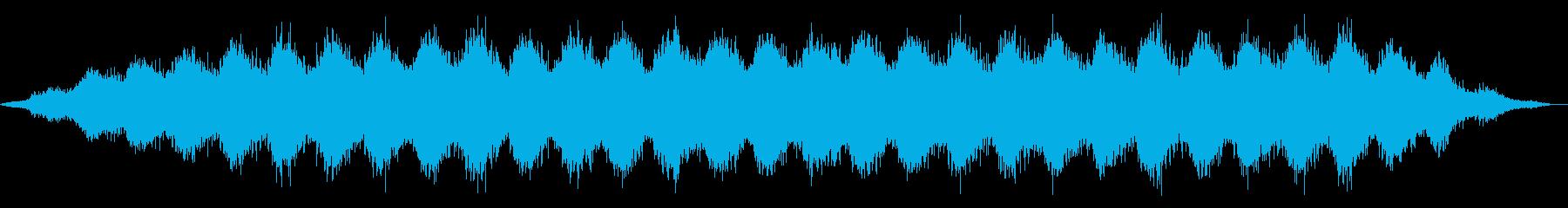 ヨガとマッサージ。ゆっくりと長い波。の再生済みの波形