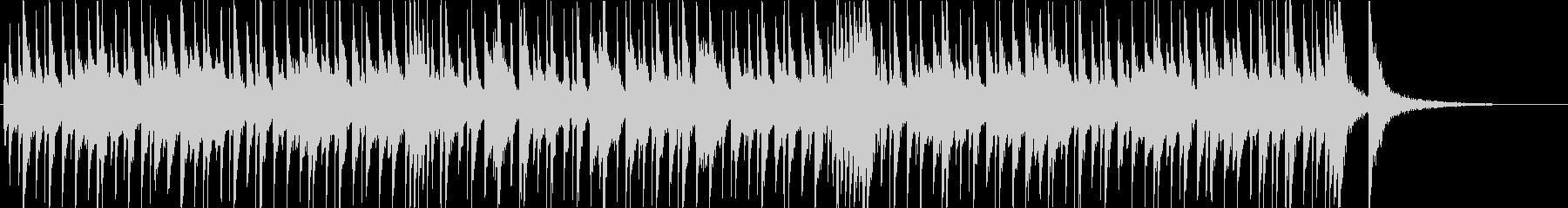 ほのぼのとした口笛風のBGMの未再生の波形