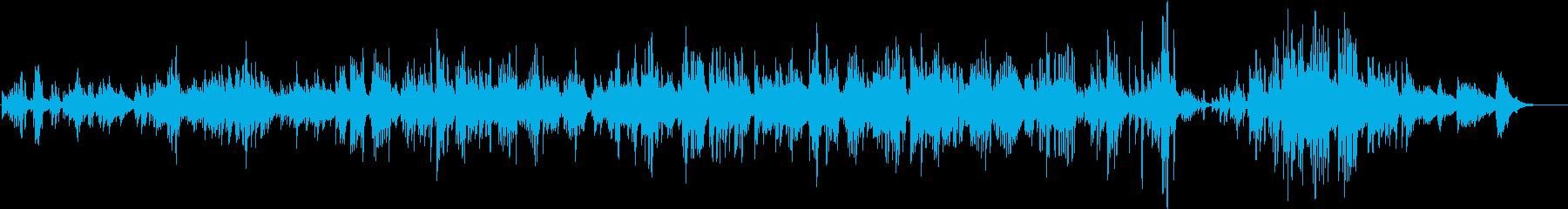 ピアノで語りかけるように奏でる、優しい…の再生済みの波形