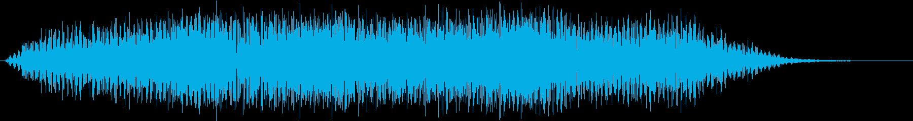 異空間ノイズの再生済みの波形