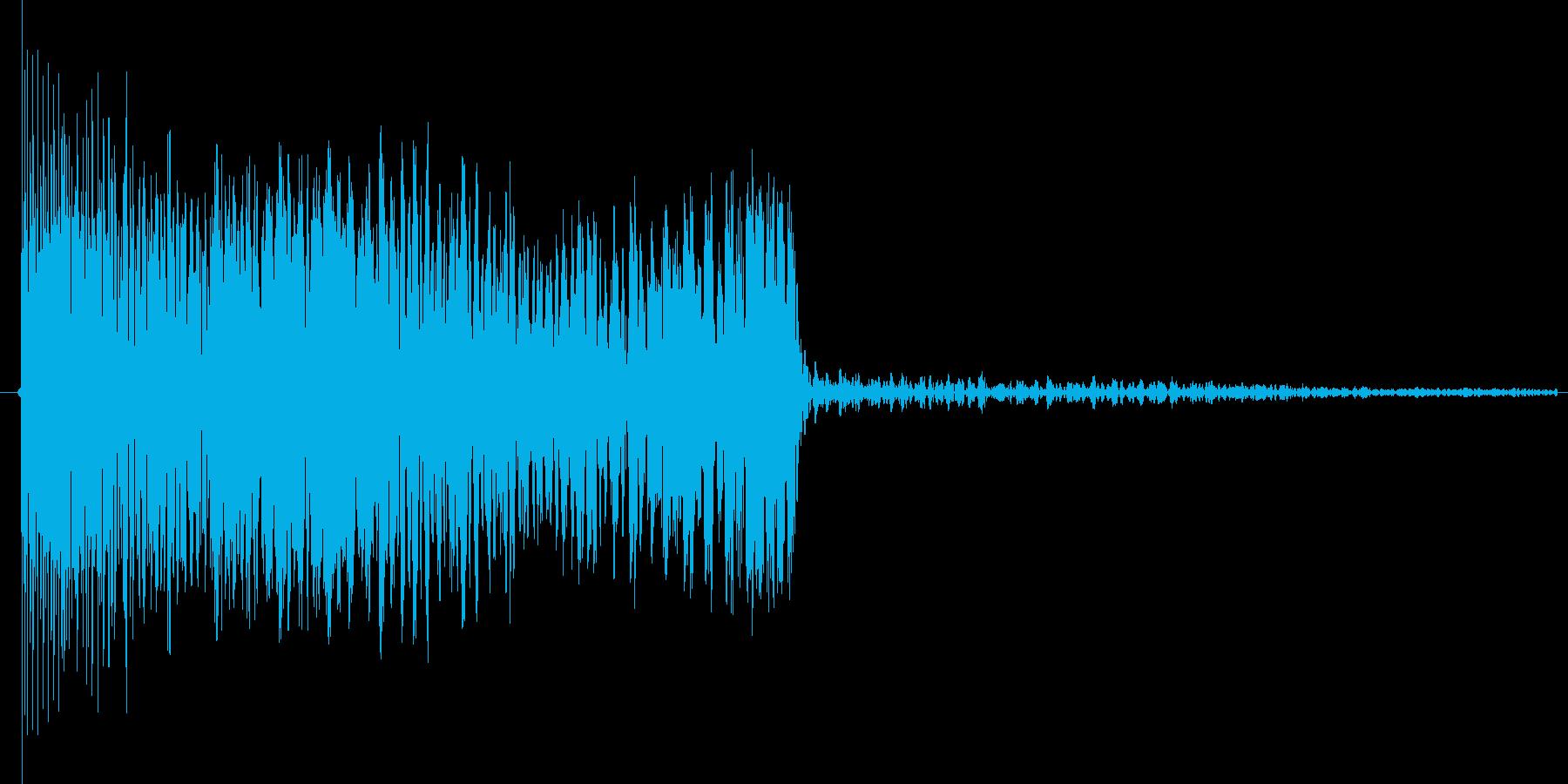 ゲームオーバーのときのような残念な音の再生済みの波形