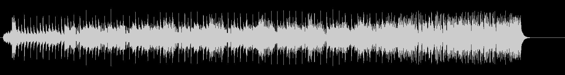 打撃系サウンドのエレクトリック・ポップスの未再生の波形