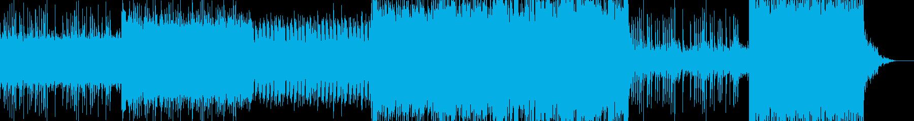 和風感動系BGMの再生済みの波形