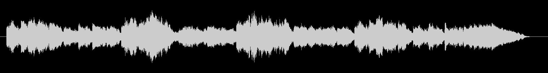 甘え声でおねだりするチェロの響きの未再生の波形