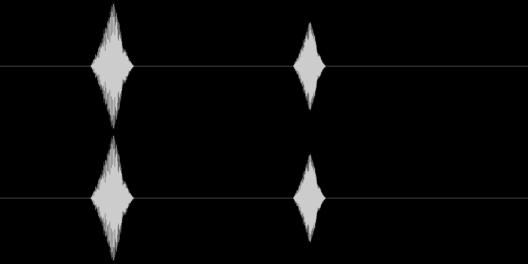 シンプルなボタン音2(ポチッ)の未再生の波形