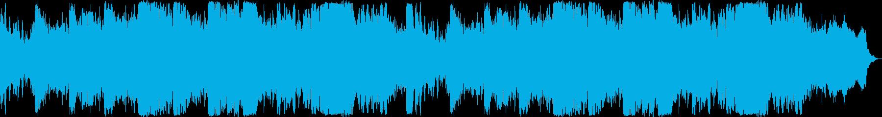 お化け屋敷のような怖い音楽の再生済みの波形