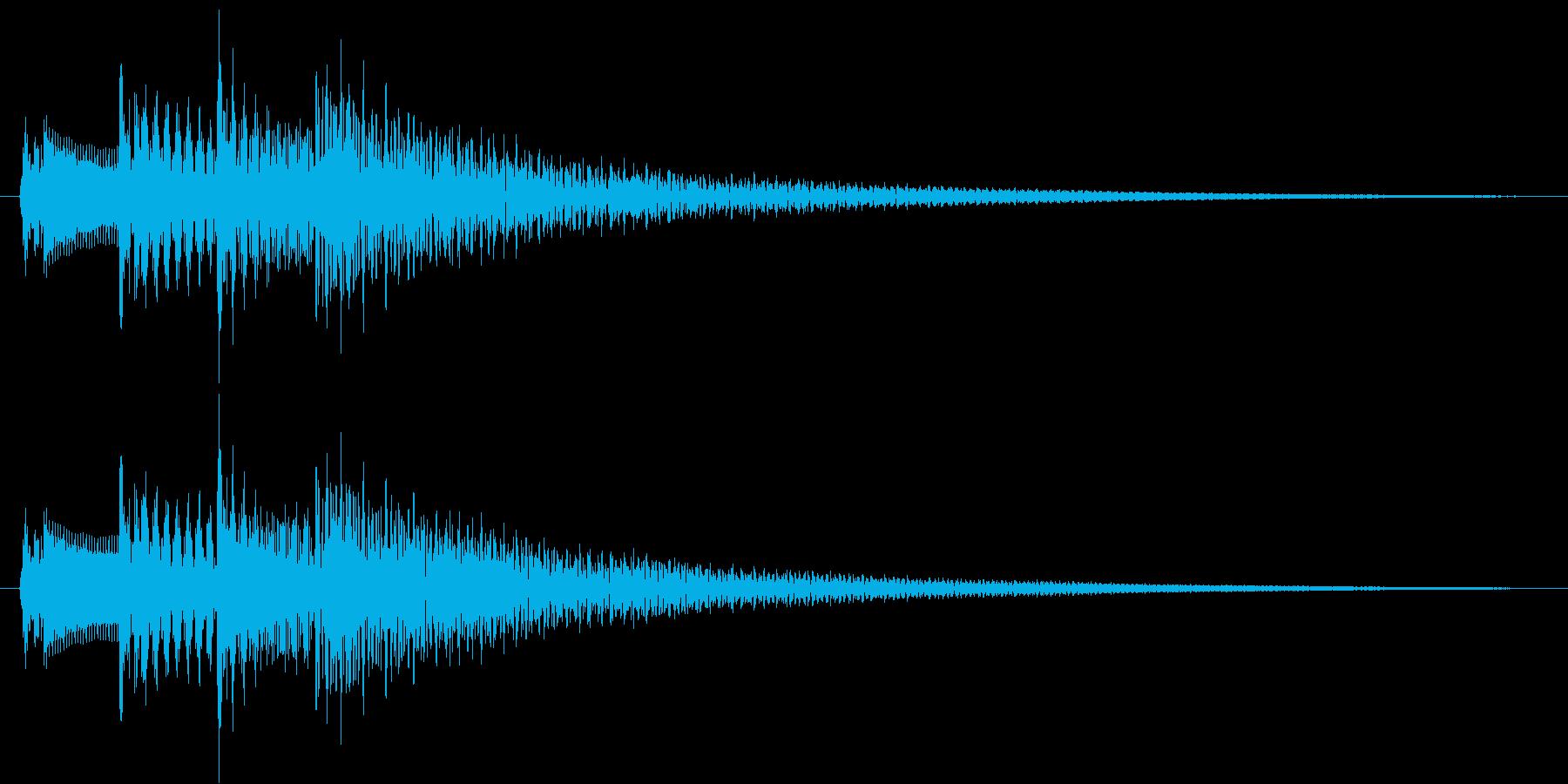 メッセージ表示・決定・着信音(優雅)の再生済みの波形