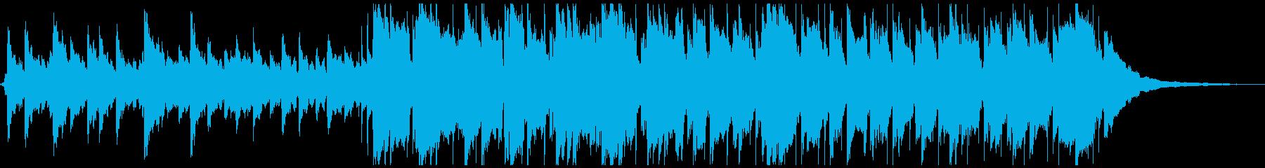 ピアノ演奏を伴う軽快なポップスの再生済みの波形