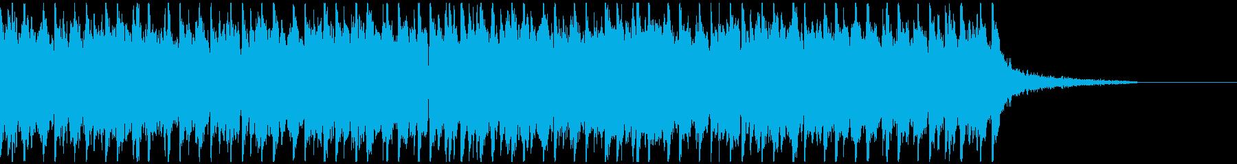 尺八メイン疾走感・激しい和風EDM30秒の再生済みの波形