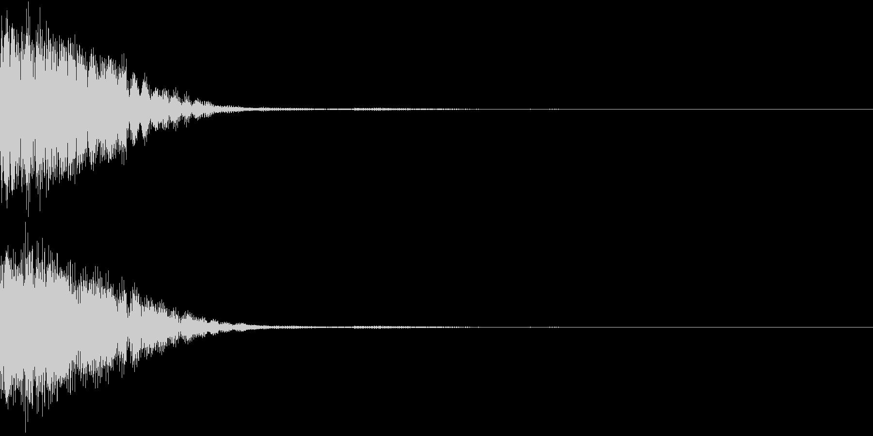 クリック音、キラン、キュイン、ピコン01の未再生の波形