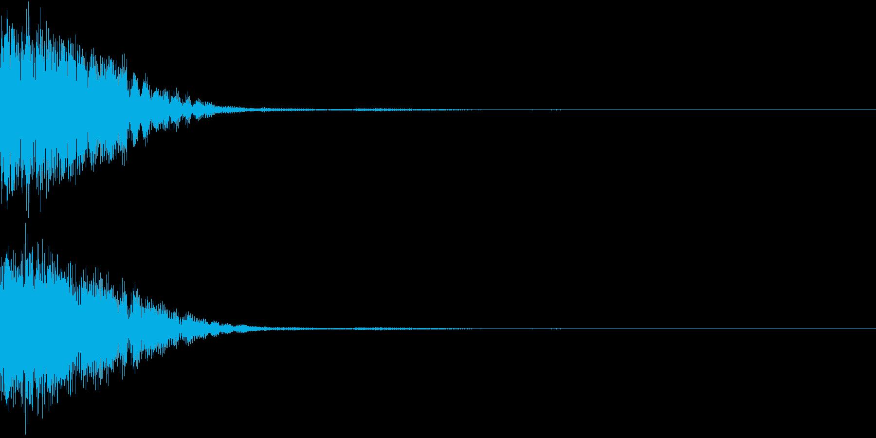 クリック音、キラン、キュイン、ピコン01の再生済みの波形