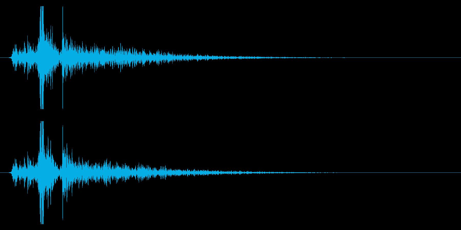 シャン!(鈴の音・1回・広がり有り)の再生済みの波形