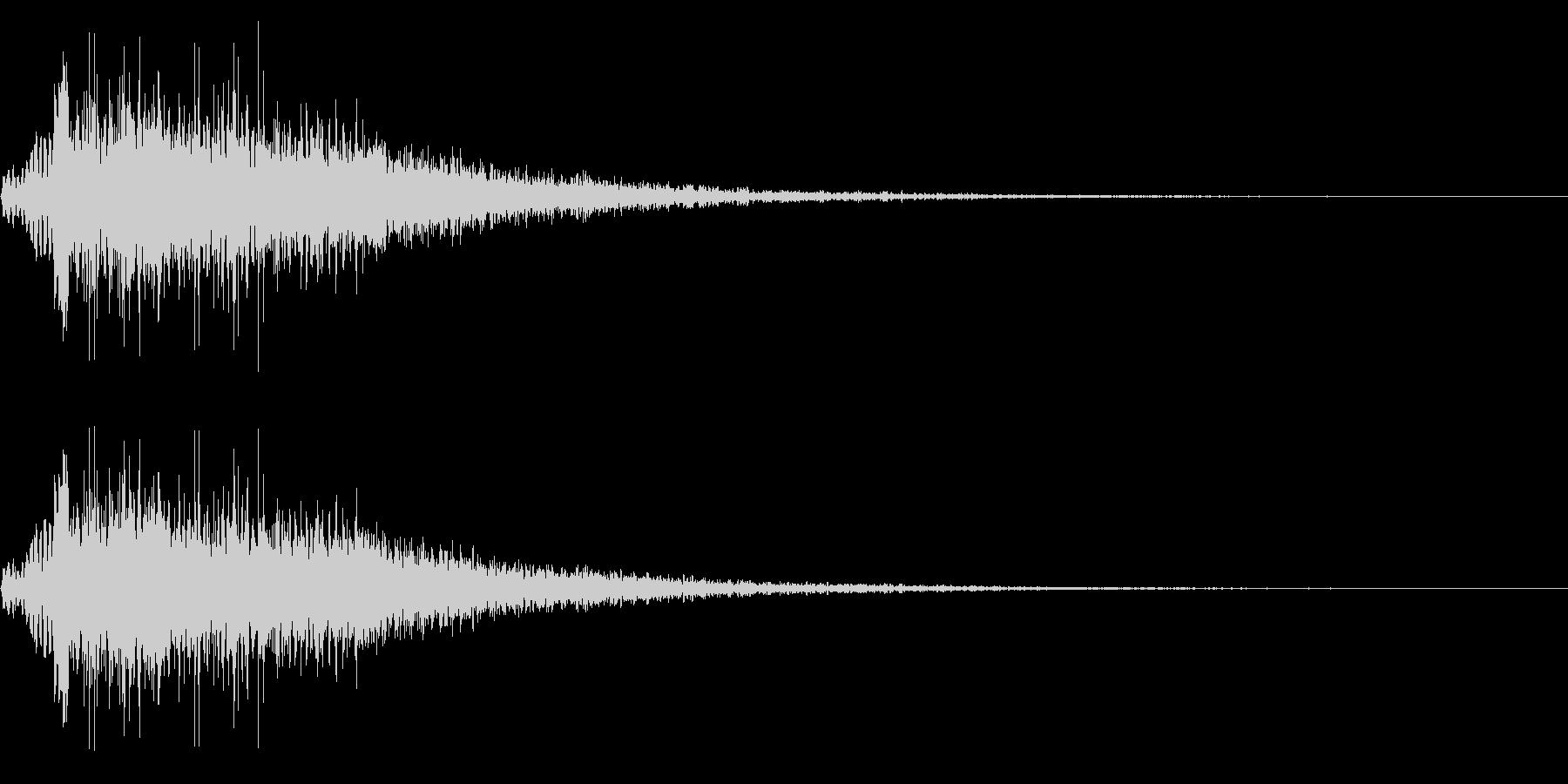 モンスター 咆哮 鳴き声 リバーブの未再生の波形