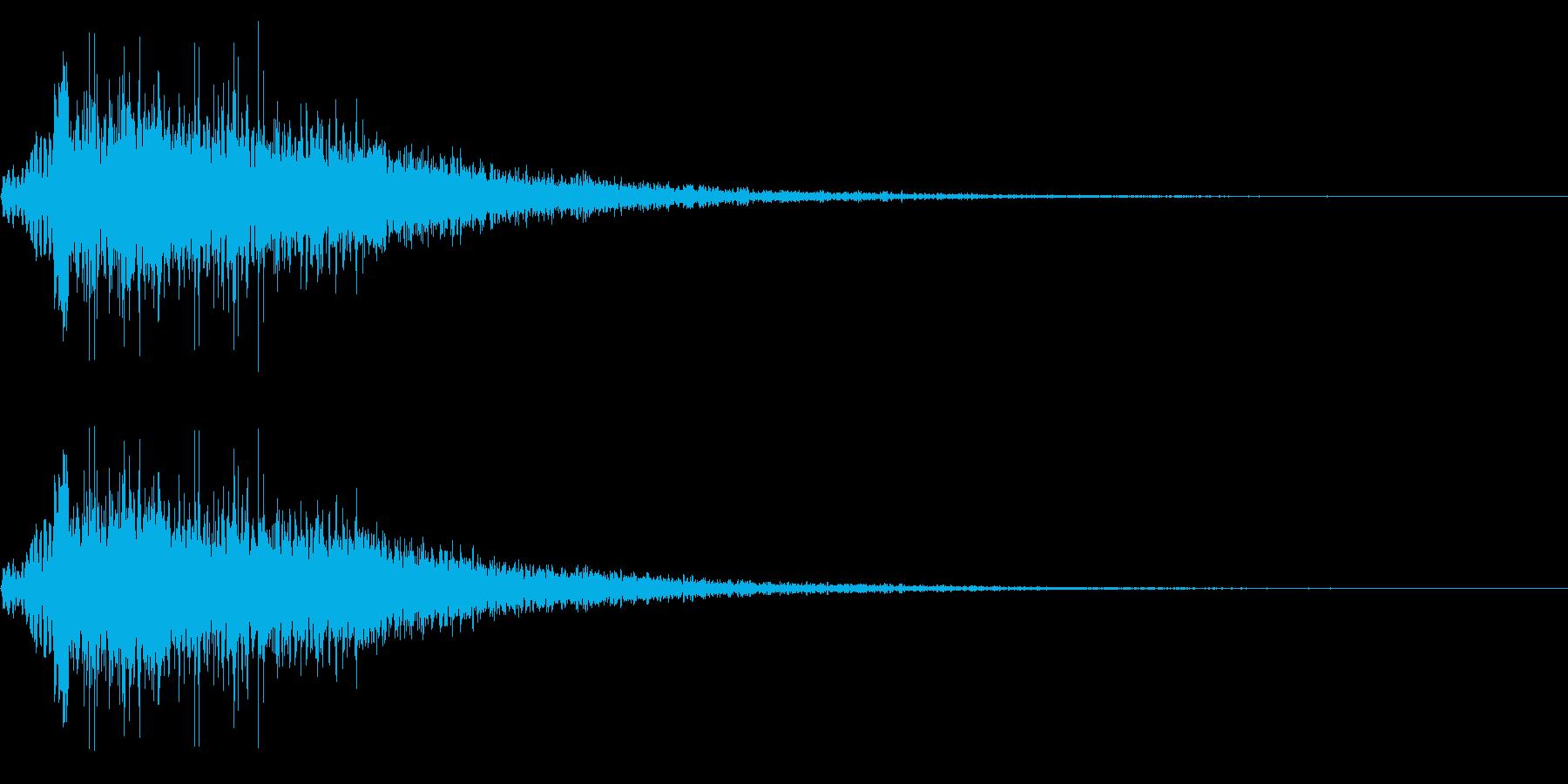 モンスター 咆哮 鳴き声 リバーブの再生済みの波形