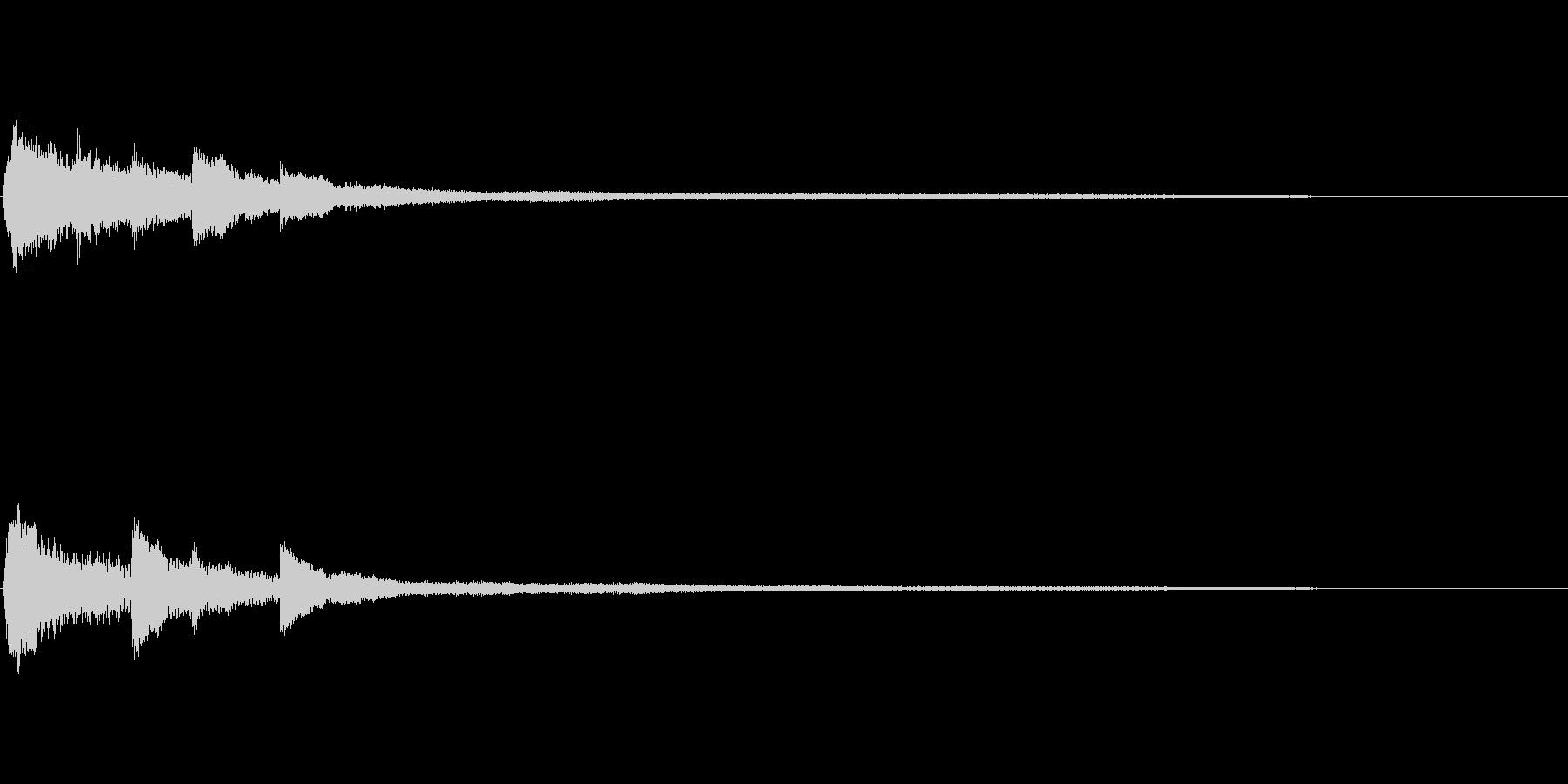 透明感のあるピアノサウンドロゴ 心象の未再生の波形