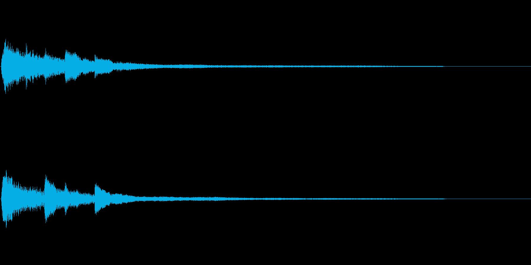 透明感のあるピアノサウンドロゴ 心象の再生済みの波形
