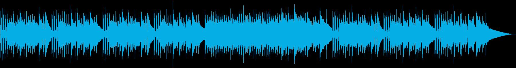 しんみりとしたアコースティックギターの再生済みの波形