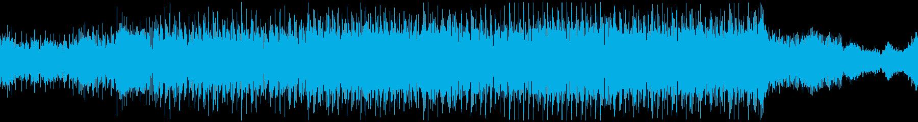未来的なドラムンベースの再生済みの波形