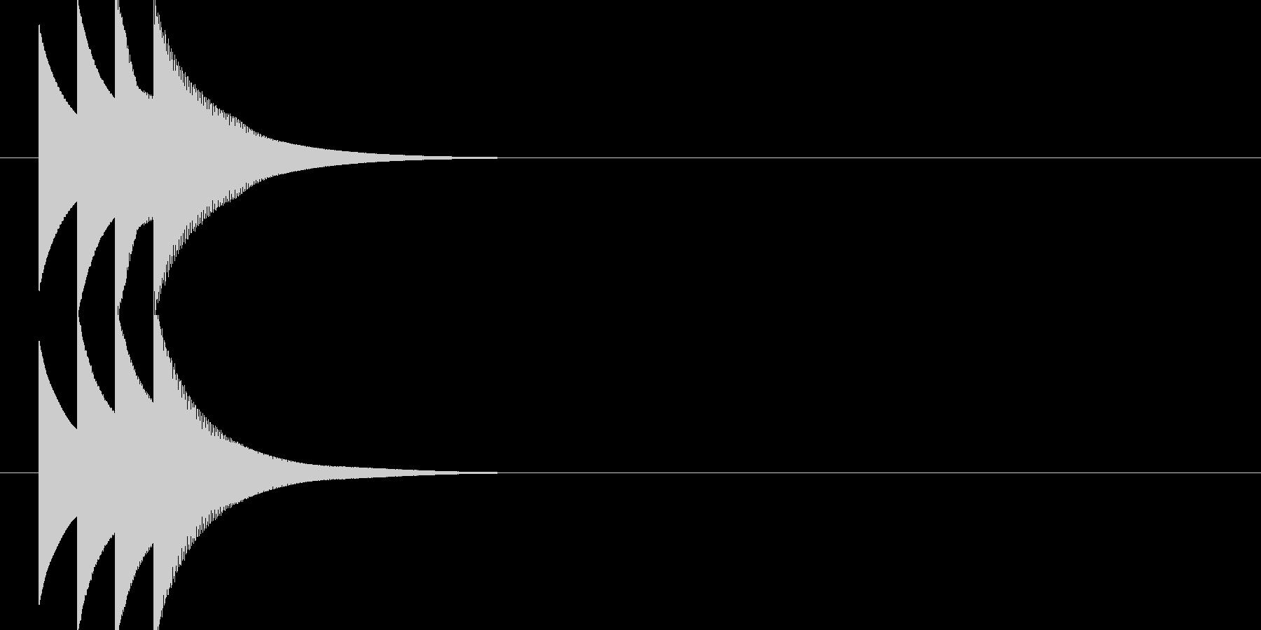 ピコピコーン(正解音)の未再生の波形